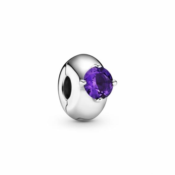 Clip Solitaire Rond Violet