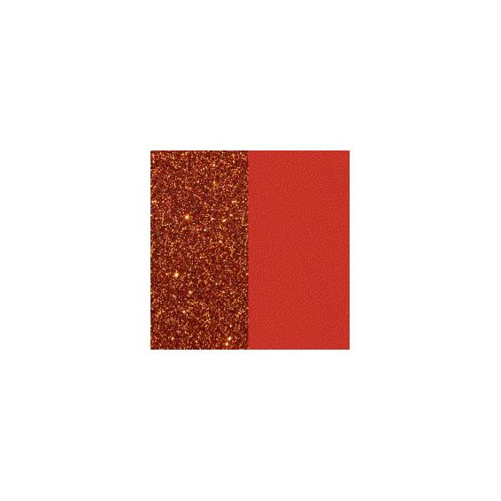 Cuir pour Manchette Cornaline/Corail Vif 8 mm