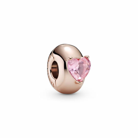 Clip Solitaire Coeur Rose
