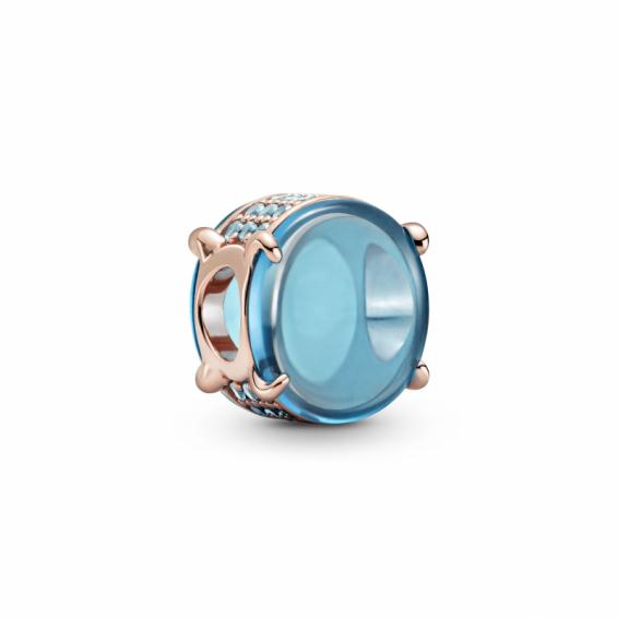 Charm Cabochon Ovale Bleu