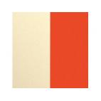 Cuir pour Manchette Satin Doré/Capucine 14 mm
