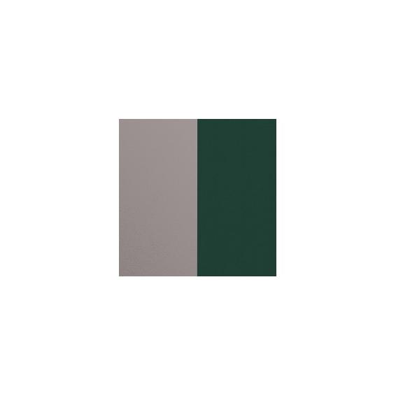 Cuir pour Manchette Argent/Vert Forêt 14 mm
