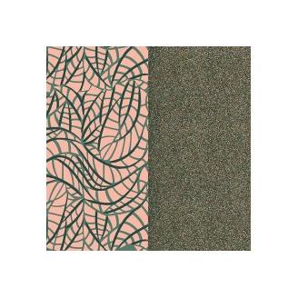 Cuir pour Manchette Fougères/Paillettes Multicolores 25 mm