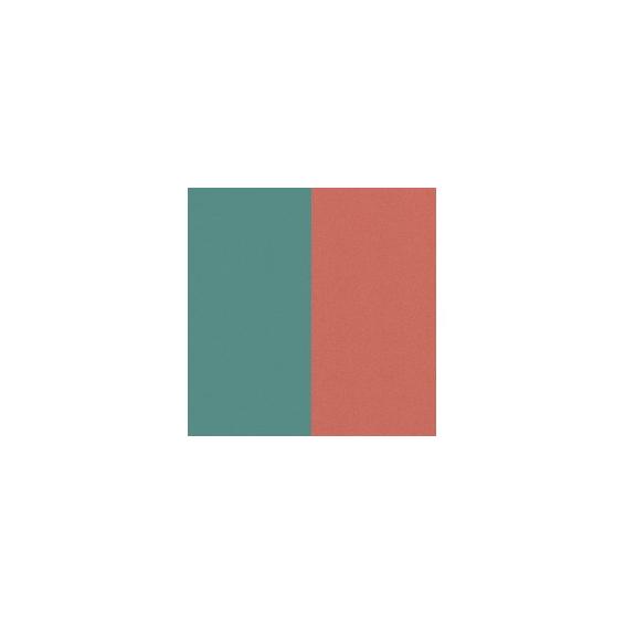 Cuir pour Manchette Bleu Minéral/Argile Rouge 40 mm
