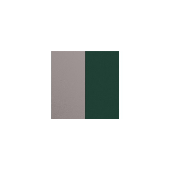Cuir pour Manchette Argent/Vert Forêt 25 mm