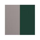 Cuir pour Pendentif Argent/Vert Forêt 45 mm