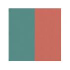 Cuir pour Manchette Bleu Minéral/Argile Rouge 25 mm