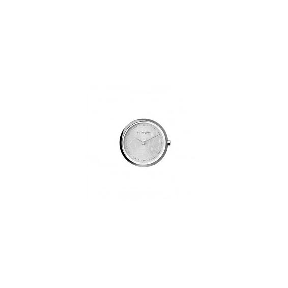 Boîtier de Montre Les Coutures Rond Argenté et Blanc 28 mm