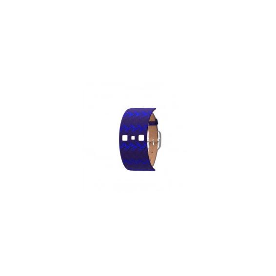 Bracelet de Montre Argenté 25 mm Cuir Batik/Grès