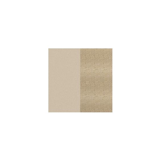 Cuir pour Pendentif Crème/Paillette Dorée 30 mm