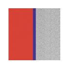 Cuir pour Manchette Rouge Patriote/Paillettes Argentées 14 mm