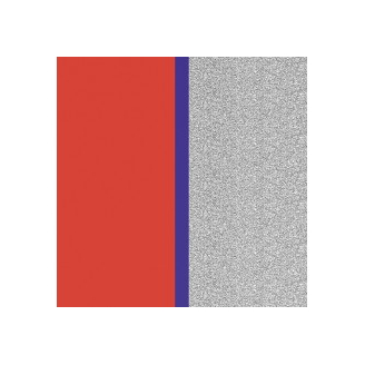 Cuir pour Manchette Rouge Patriote/Paillettes Argentées 40 mm