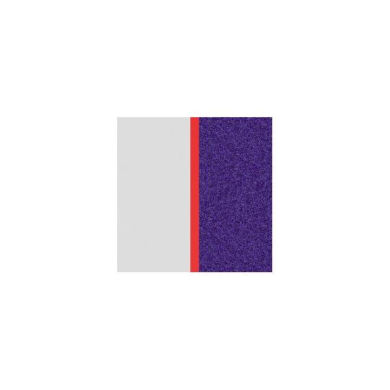 Cuir pour Manchette Blanc Liberté/Bleu Pailleté 14 mm