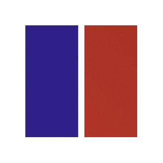 Cuir pour Manchette Bleu République/Rouge 25 mm