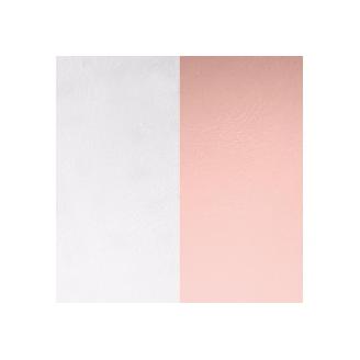 Simili Réversible pour Bague 12 mm Gris Clair/Rose Clair