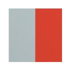 Cuir pour Boucles d'Oreilles Perle Bleue/Tomette 43 mm