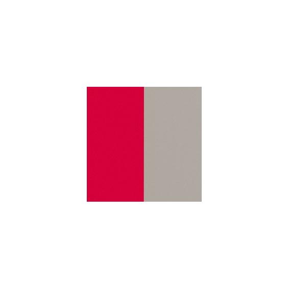 Cuir pour Manchette Fraise/Grège Vernis 14 mm