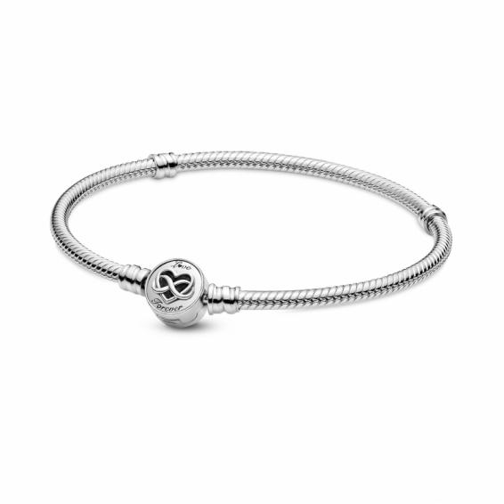 Bracelet Maille Serpent Fermoir Infini Coeur