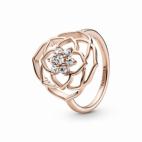 Bague Spectaculaire Pétale de Rose