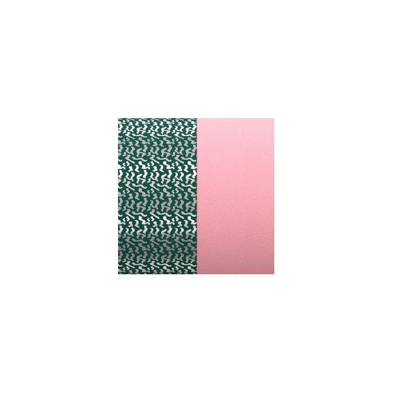 Cuir pour Manchette Motif Mousse Dorée/Vieux Rose 8 mm