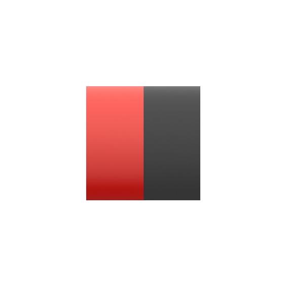 Cuir pour Pendentif Rouge Vernis/Noir 30 mm