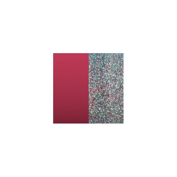 Cuir pour Pendentif Framboise Soft/Paillettes Multicolores 30 mm