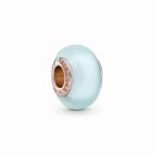 Charm Verre de Murano Bleu Mat