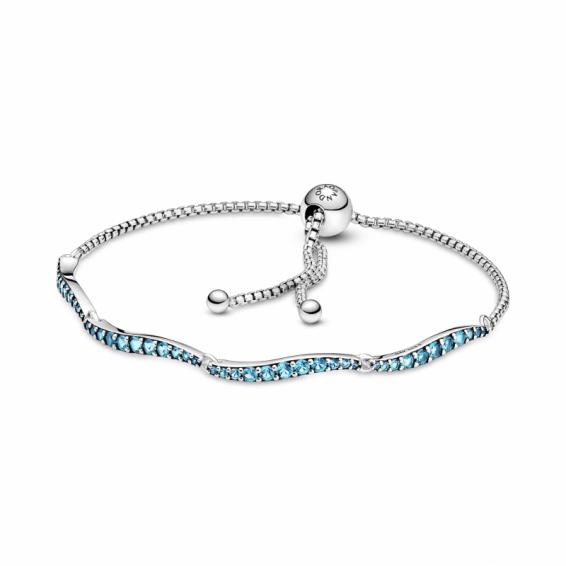 Bracelet Coulissant Vagues Bleu