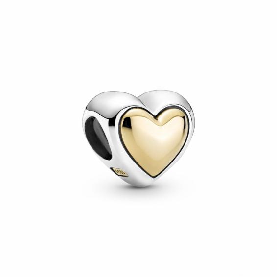 Charm Coeur Doré Bombé