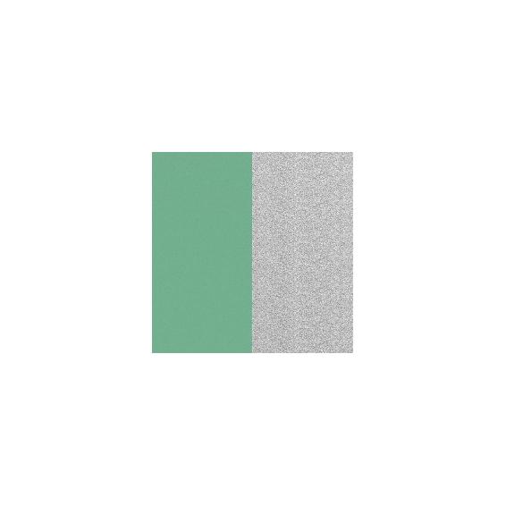 Simili Réversible pour pendentif Vert d'Eau/Paillettes Argentées 16 mm