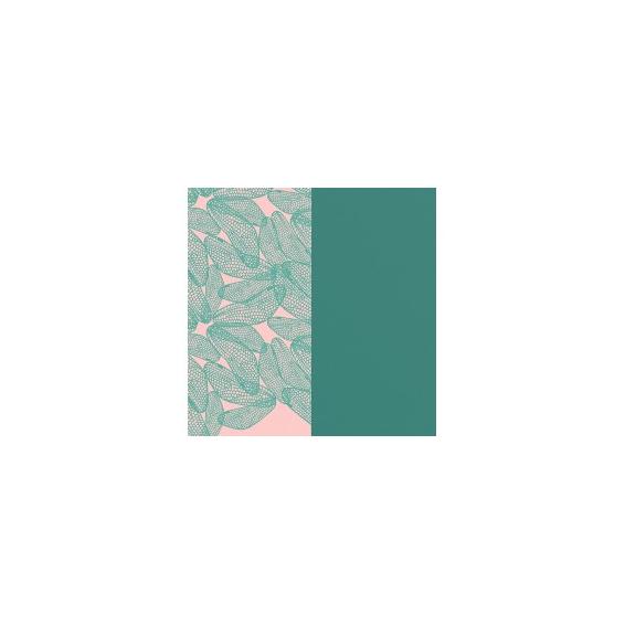 Cuir pour Manchette Motif Libellule/Vert Pin 25 mm