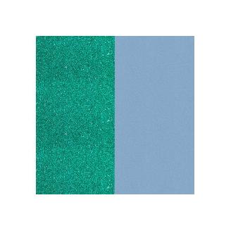 Cuir pour Manchette Paillettes Turquoise/Bleu Ciel 25 mm
