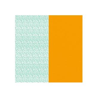 Cuir pour Manchette Motif Aqua/Pollen 25 mm