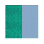 Cuir pour Manchette Paillettes Turquoise/Bleu Ciel 14 mm