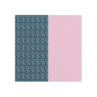 Cuir pour Manchette Motif Ecailles/Rose Pastel 25 mm