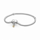 Bracelet Maille Serpent Fermoir Coeur Disney