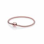 Bracelet Maille Serpent Plaqué Or Rose