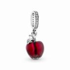 Charm Pendant Pomme Rouge Verre de Murano