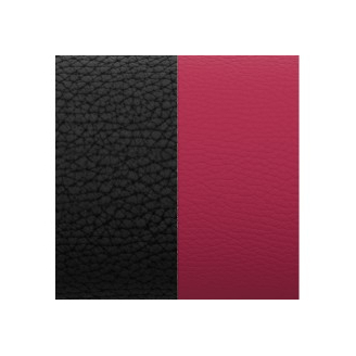 Cuir pour Manchette Noir/Magenta 40mm