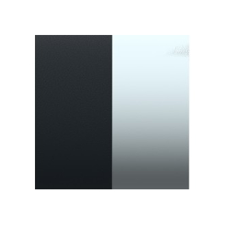 Cuir pour Manchette Mat/Ruthenium 40 mm