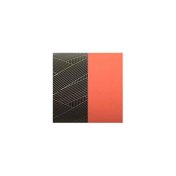 Cuir pour Manchette Motif Rayures/Argile Rose 14 mm
