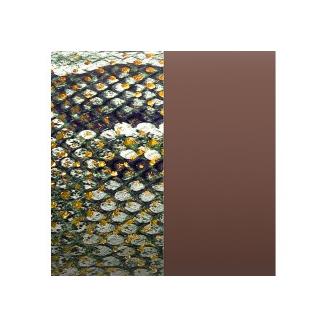 Cuir pour Manchette Motif Reptile Graphique/Chocolat 14 mm