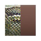 Cuir pour Manchette Motif Reptile Graphique/Chocolat 25 mm