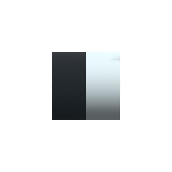Cuir pour Manchette Marine Mat/Ruthenium 8 mm