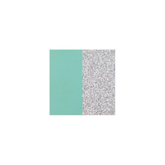 Vinyle pour Bague 12 mm Vert d'Eau / Paillettes Argentées