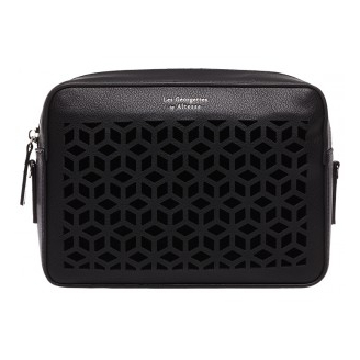 "Sac Dentelle Le Rectangle, Motif ""Résille"" Noir"