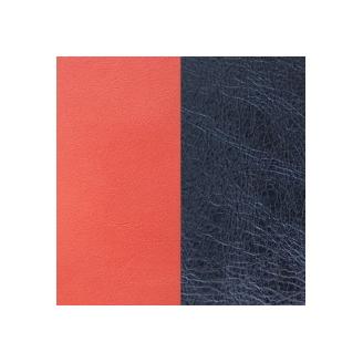Cuir pour Manchette Corail / Bleu Métallisé 40 mm