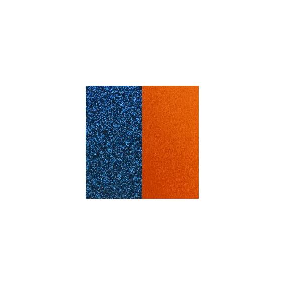 Cuir pour Manchette Bleu Pailletté / Abricot 40 mm