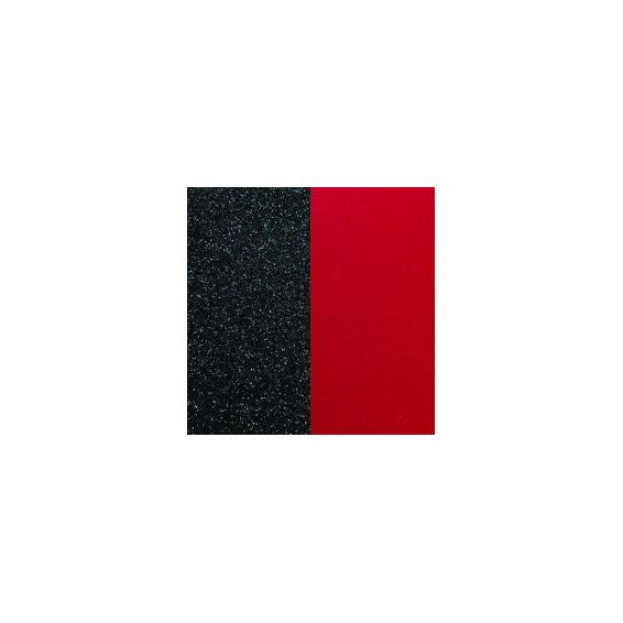 Cuir pour Manchette Noir Pailletté / Rouge 40 mm