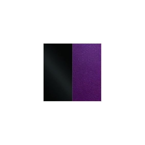 Cuir pour Manchette Noir Vernis / Violine 40 mm